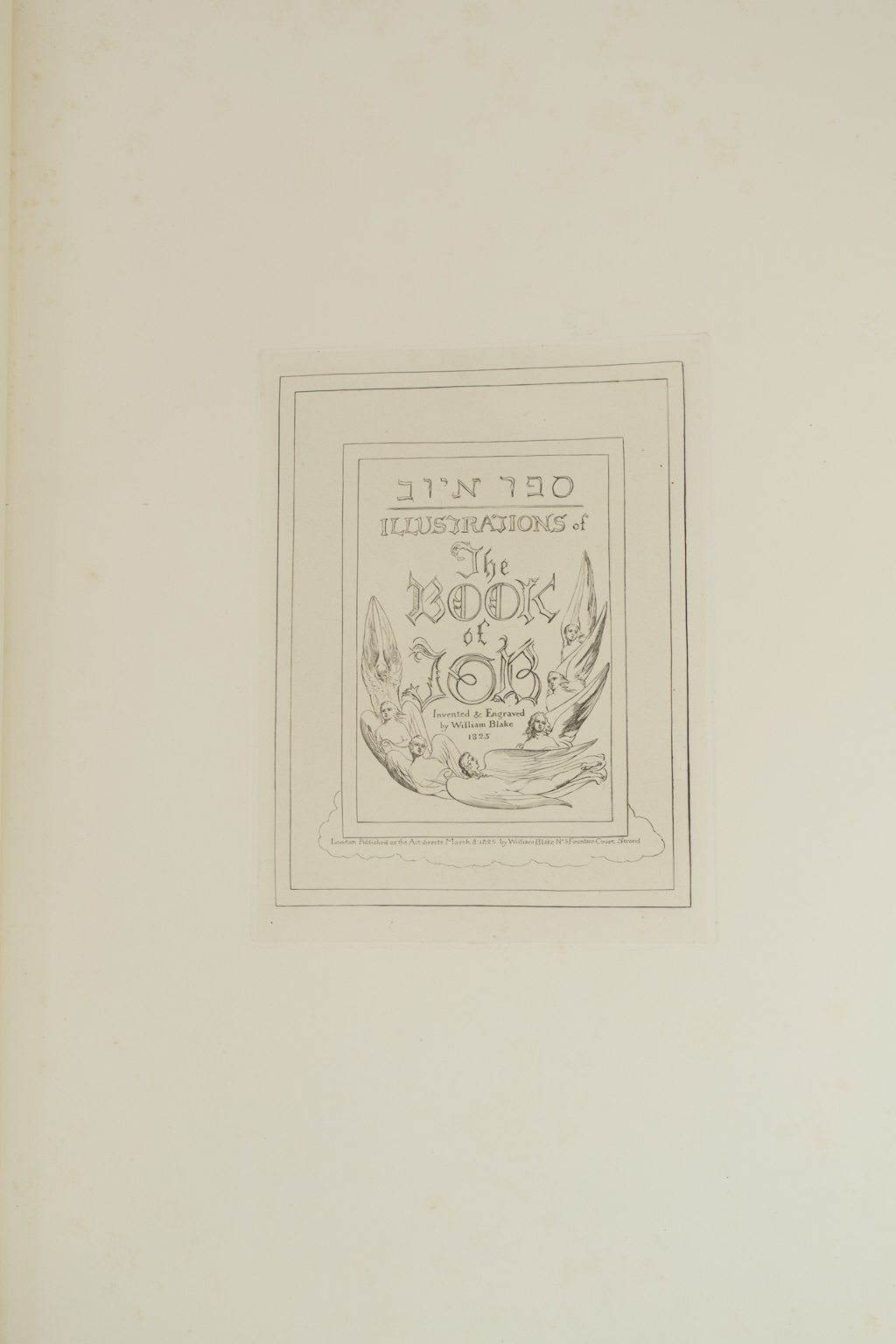 BLAKE, William  Illustrations of the Book of Job  - $32,500