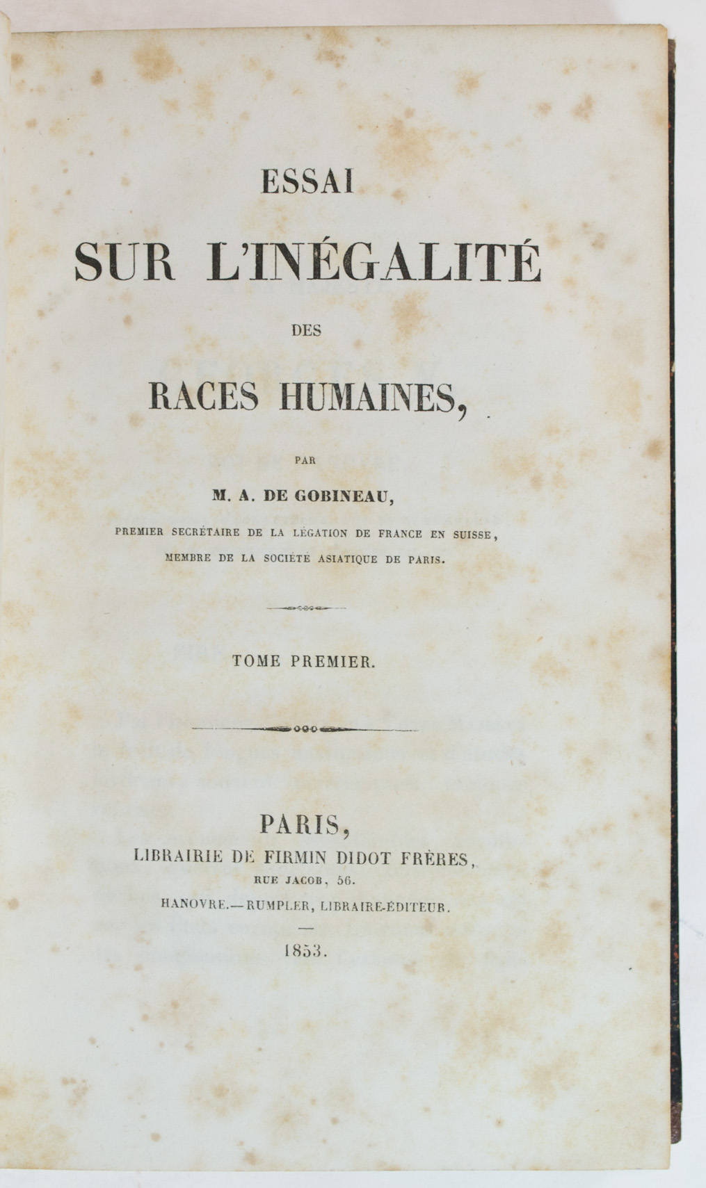 essays on joseph arthur comte de gobineau 'an essay on the inequality of the human races': book by arthur de gobineau that developed by joseph arthur comte de gobineau was intended as.