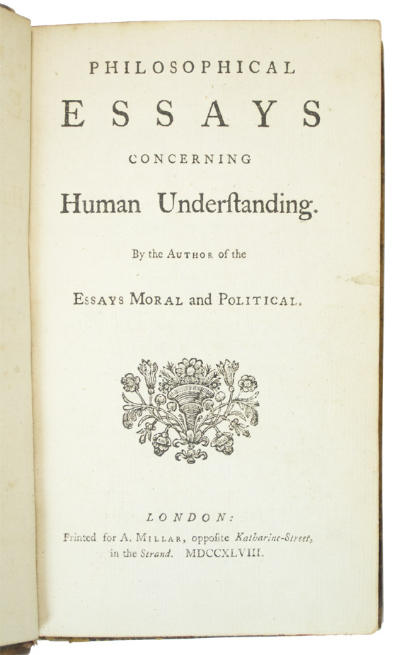 hume david philosophical essays concerning human understanding philosophical essays concerning human understanding