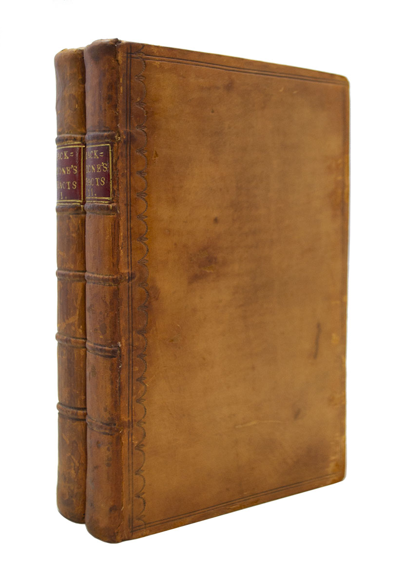BLACKSTONE, Sir William  Law Tracts, - $2,500 | Heritage Book Shop